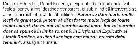 Ministrul Funeriu si gramatica